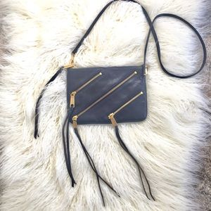 Rebecca Minkoff navy 3 Zip Rocker Bag